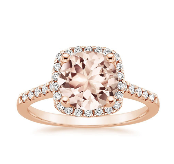 Peach Round Morganite Odessa Diamond Ring by Brilliant Earth BrilliantEarth.com